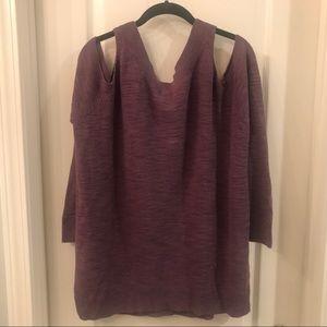 Express Sweaters - Express Cold-Shoulder Reversible Sweater
